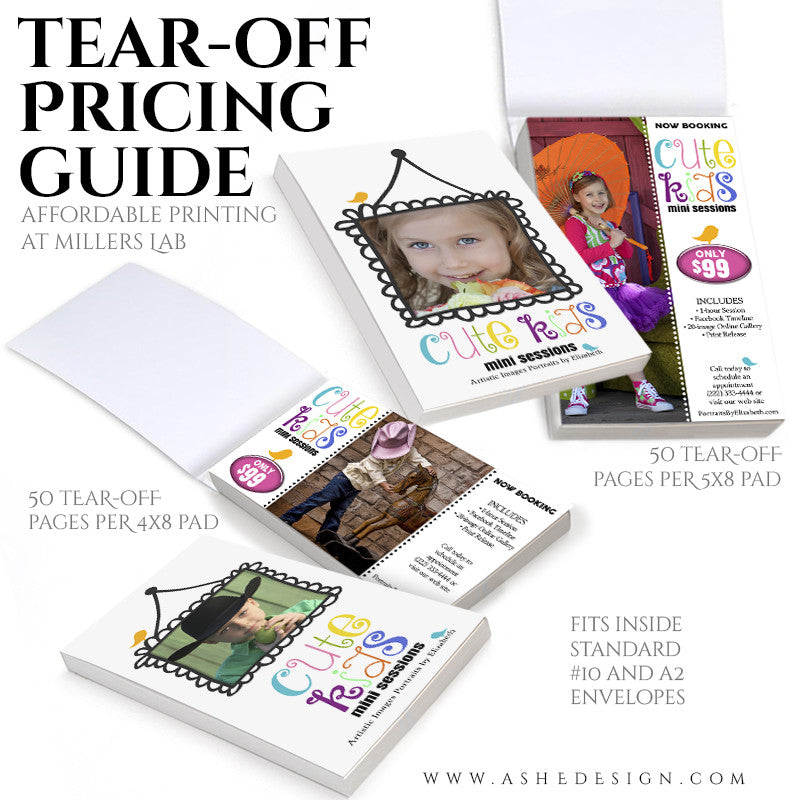 Tear-off Pricing Guide Pad Set 4x8 & 5x8 | Cute Kids