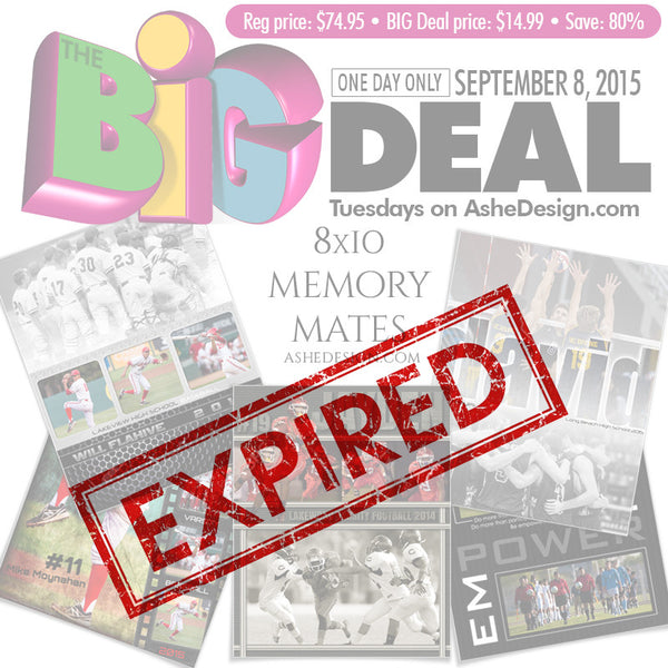 BIG DEAL - September 8, 2015 expired