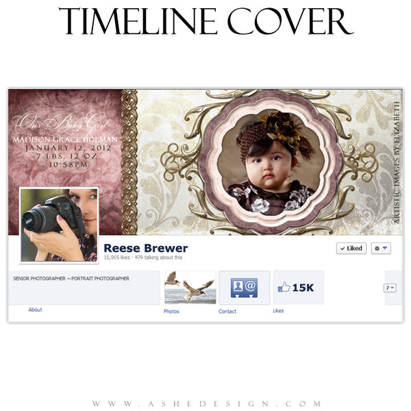 Madison Grace Timeline Cover Template