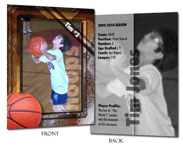 Sports Template Set 1 | Basketball trading cards