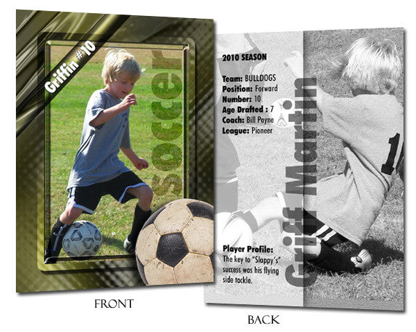 Sports Template Set 1 | Soccer trading card