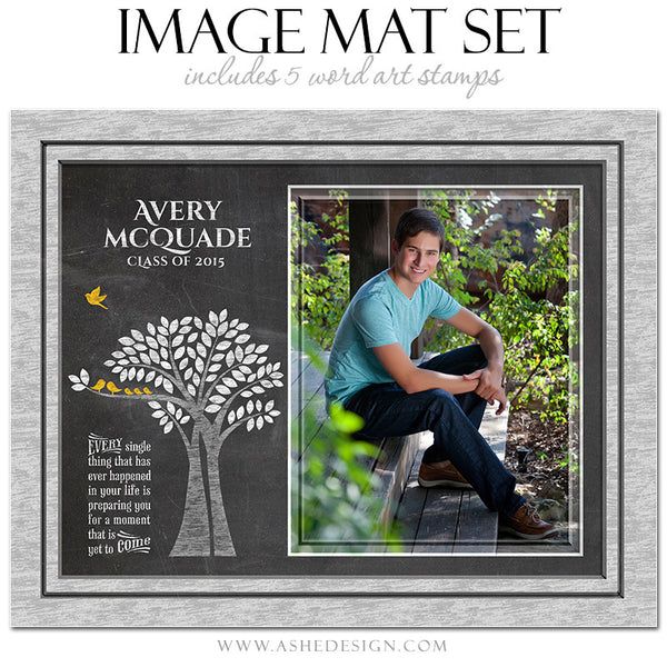 Word Art Image Mat Set 8x10 & 16x20 | Tree Of Life Senior Chalkboard1