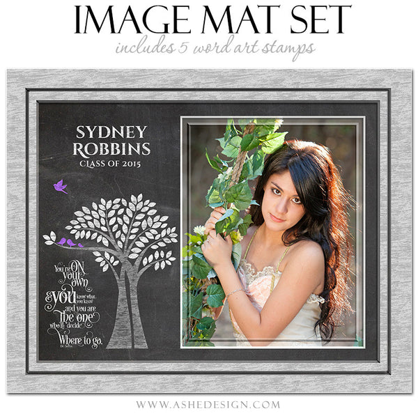Word Art Image Mat Set 8x10 & 16x20 | Tree Of Life Senior Chalkboard2