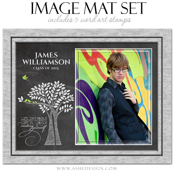 Word Art Image Mat Set 8x10 & 16x20 | Tree Of Life Senior Chalkboard3