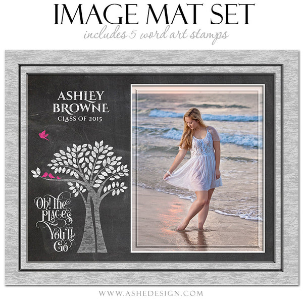 Word Art Image Mat Set 8x10 & 16x20 | Tree Of Life Senior Chalkboard5
