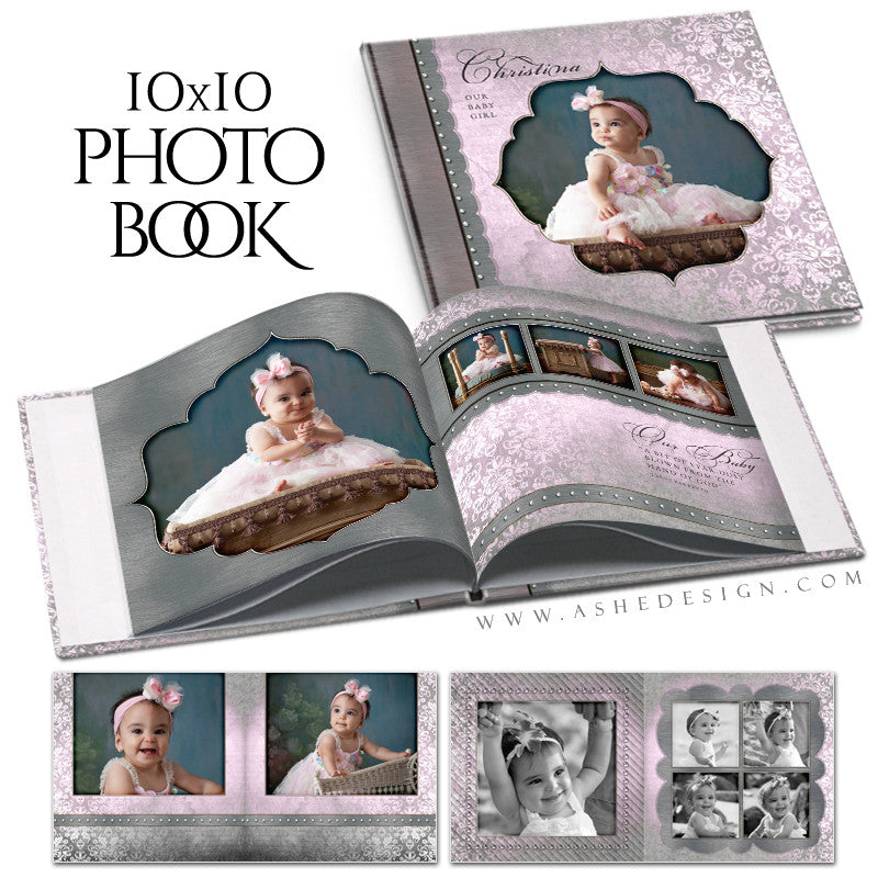 Baby Girl 10x10 Photo Book | Christina open book