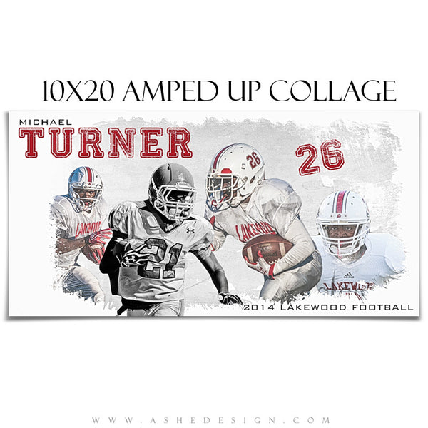 Amped Collage Set | Game Day 10x20