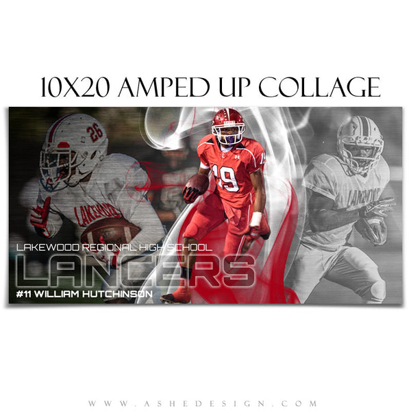 Ashe Design | Football Collage Templates | Triple Crown 10x20