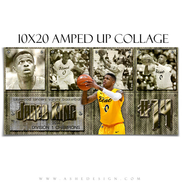 Sports Collage Templates | Hall Of Fame 10x20