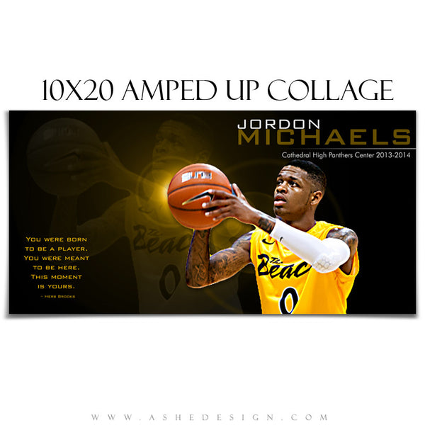 Basketball Collage Templates | This Moment Is Yours 10x20