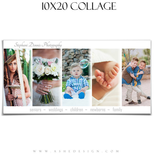 Simply Chic 10x20 Collage Template for Photographers