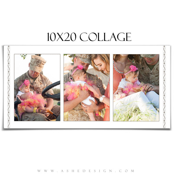 Collage Template 10x20 | Camellia 4