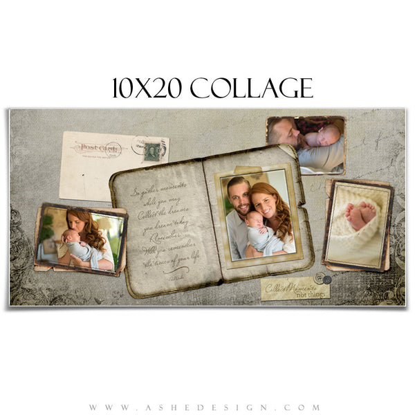 Amped Photoshop Collage Templates for Photographers | Collect Moments 10x20