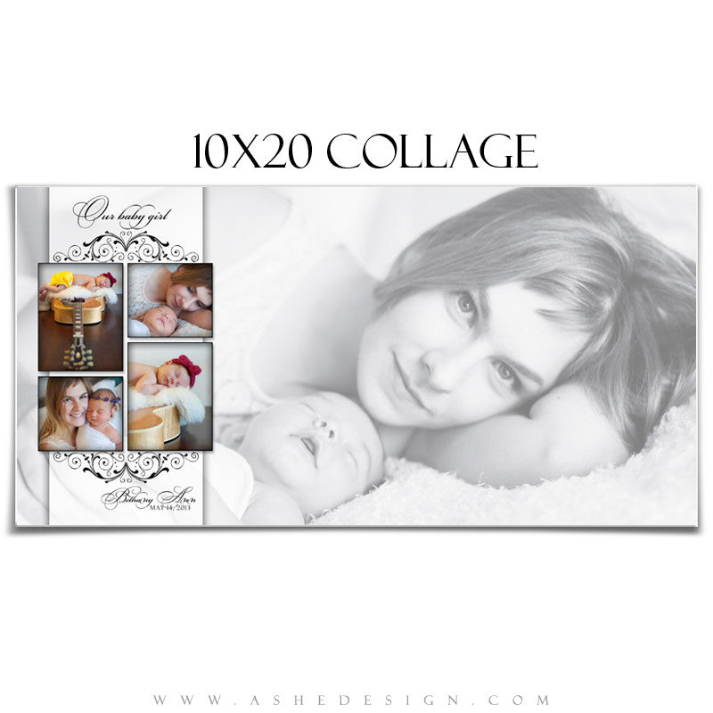 Ashe Design | Photography Template 10x20 | Simply Classic
