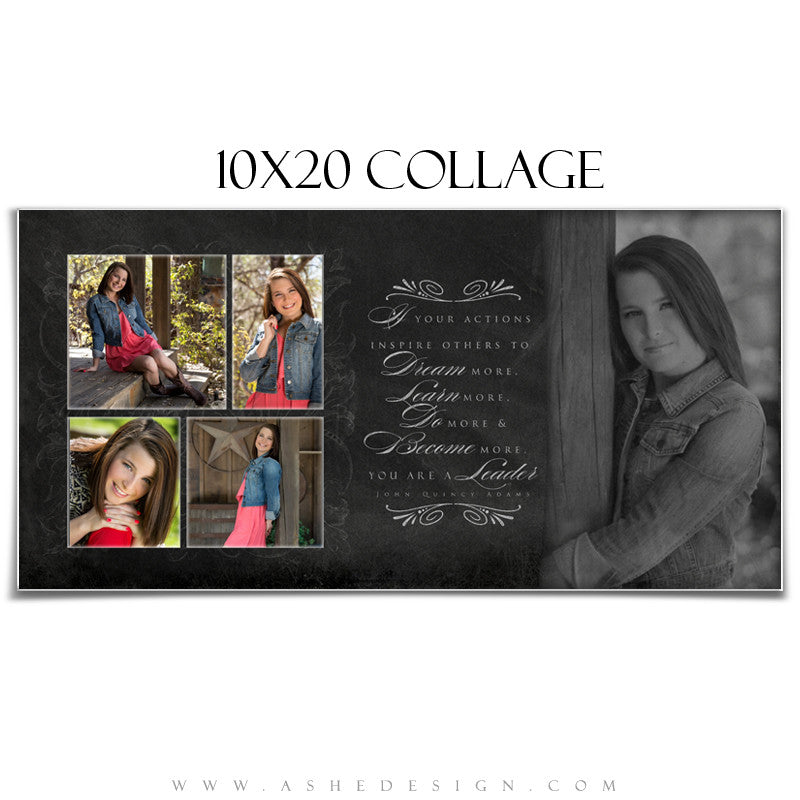 Chalkboard Senior Girl 10x20 Collage web display