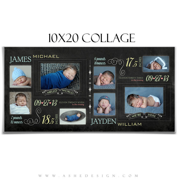Chalkboard Babies - 10x20 Collage web display