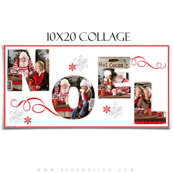 Word Collage 10x20 - Noel display template