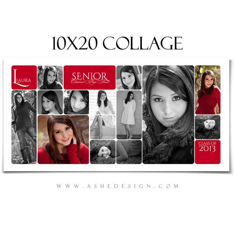 10x20 Rounded Corner Collage Template