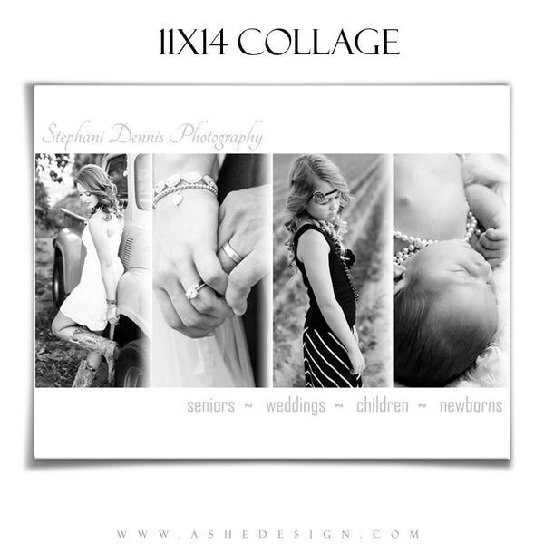 Simply Chic 11x14 Collage Template for Photographers