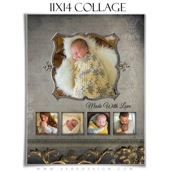 Photoshop Collage Template 11x14 | Platinum Filigree
