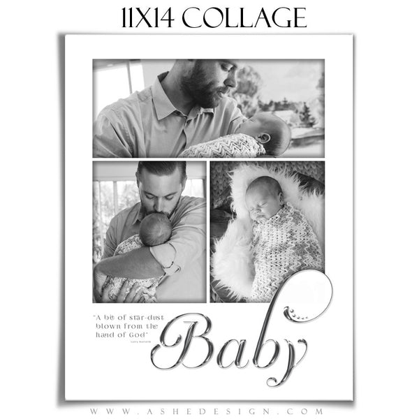 Newborn Collage 11x14 | Simply Worded Baby