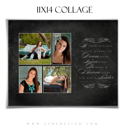 Chalkboard Senior Girl 11x14 Collage web display