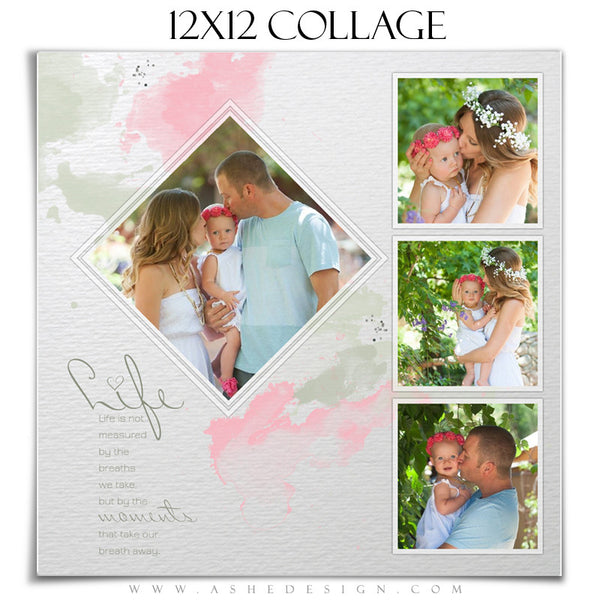 Collage Template12x12 | Watercolors