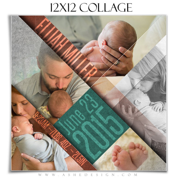 Family Collage 12x12 | Angled