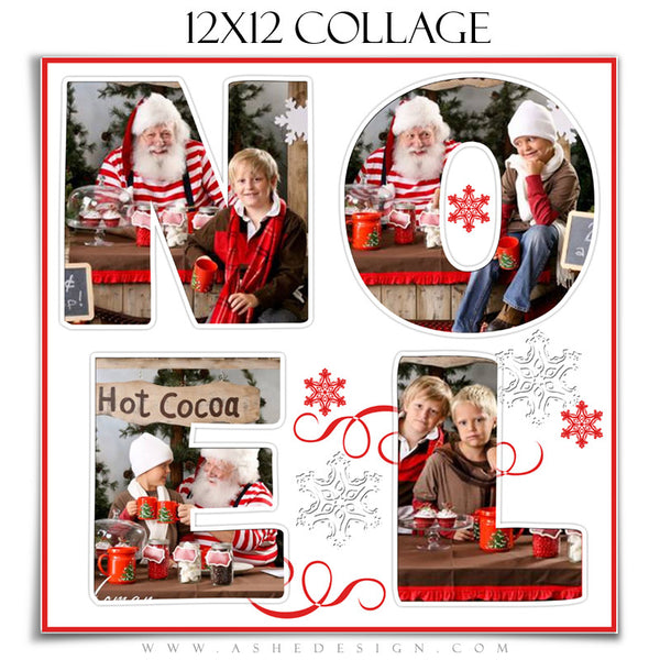 Word Collage 12x12 - Noel web display template
