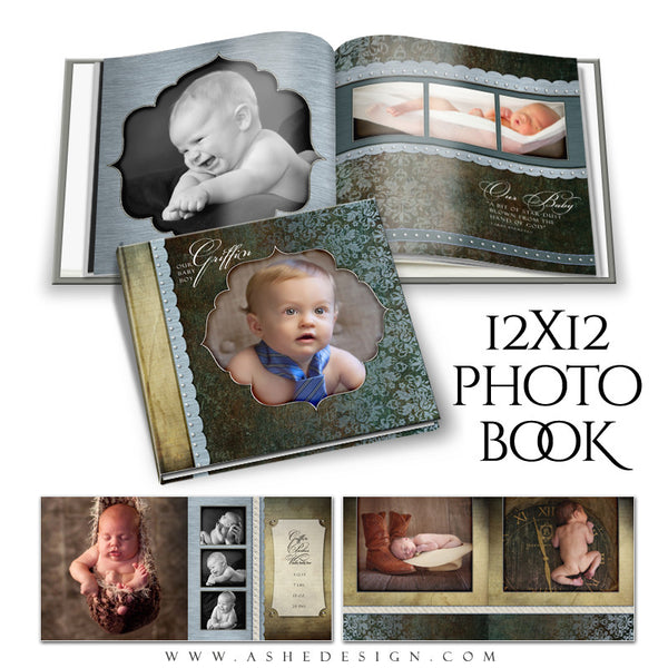 Baby Boy 12x12 Photo Book | Griffin open book