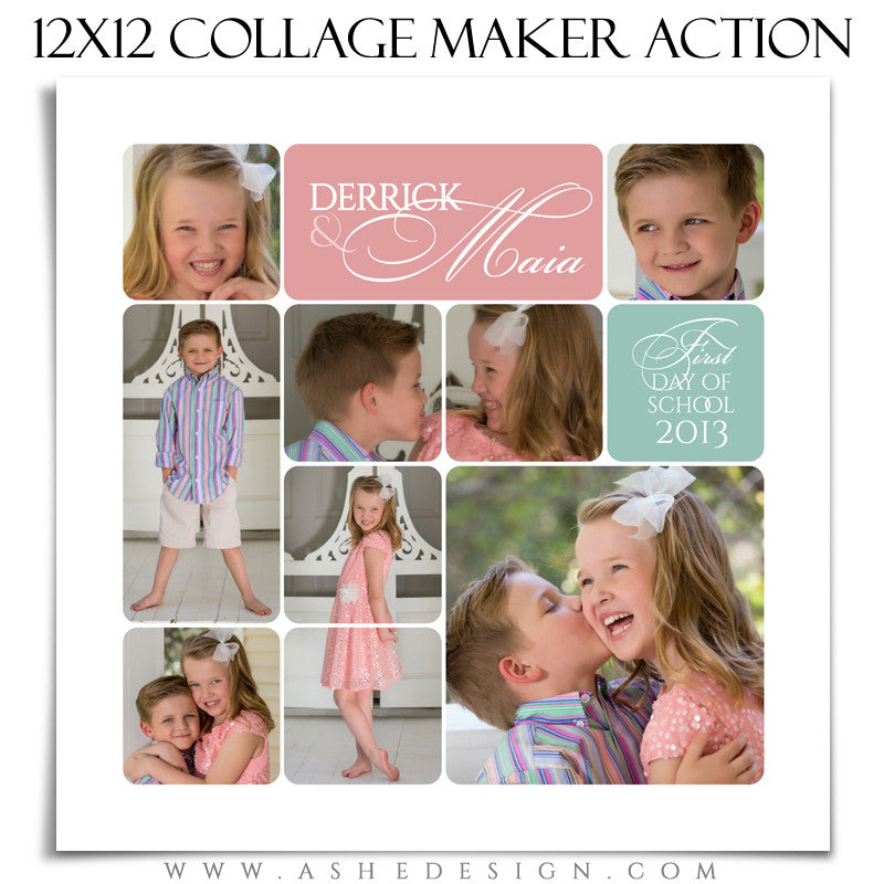 12x12 Rounded Corner Collage Maker | Photoshop Action