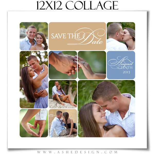 12x12 Rounded Corner Collage Template