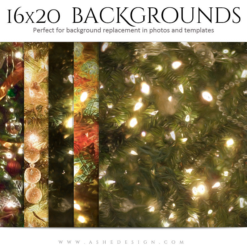 Photography Holiday Background Set | Impressionistic Holidays