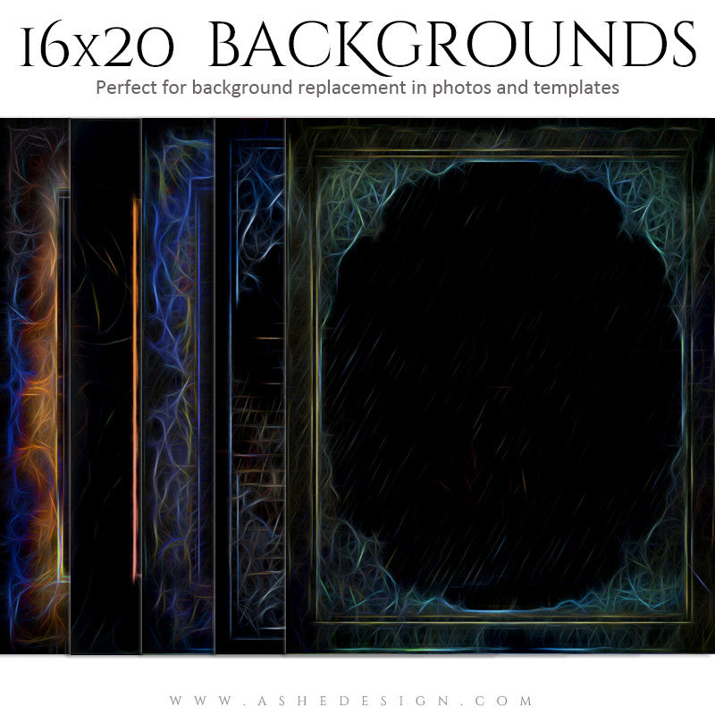 Photography Backdrops 16x20 | Neon set