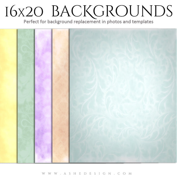 Photography Backdrops 16x20 | Soft Pastels full set