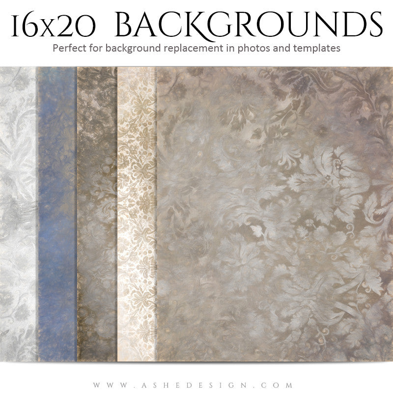 Backgrounds 16x20 | Damask Pastels set