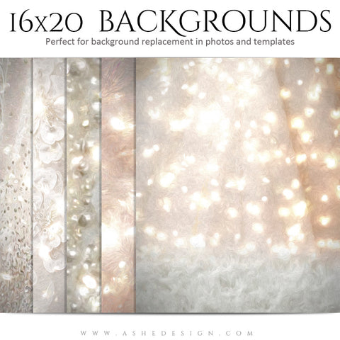 Holiday Photography Background Set | White Christmas