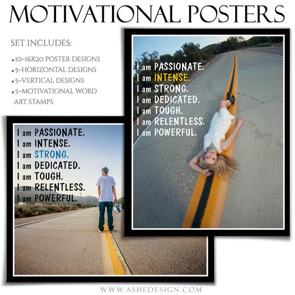 Poster Photography Templates | Motivational Set 8-1