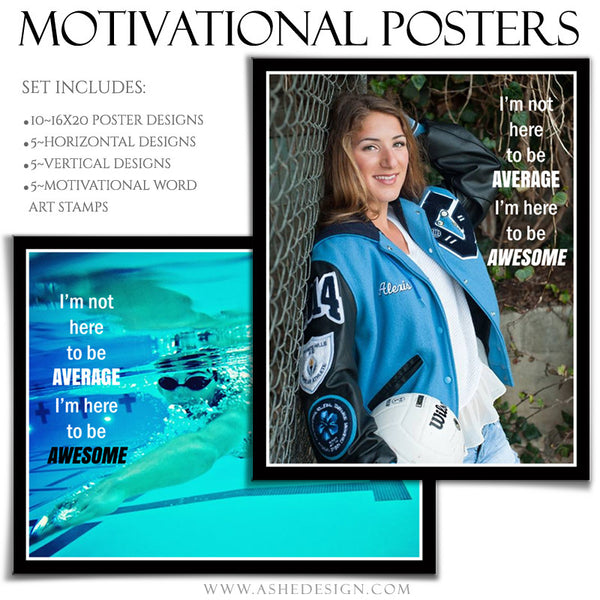 Poster Photography Templates | Motivational Set 8-5