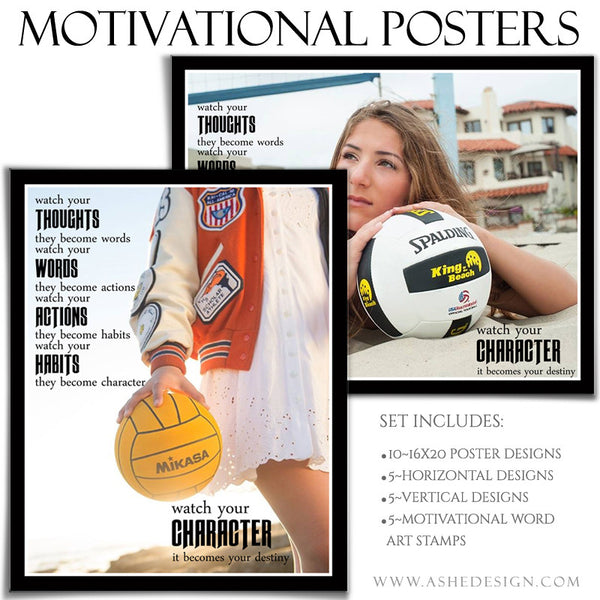 Poster Photography Templates | Motivational Set 8-3