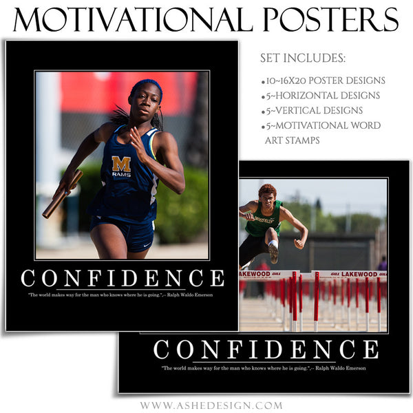 Poster Photography Templates | Motivational Set 6 confidence