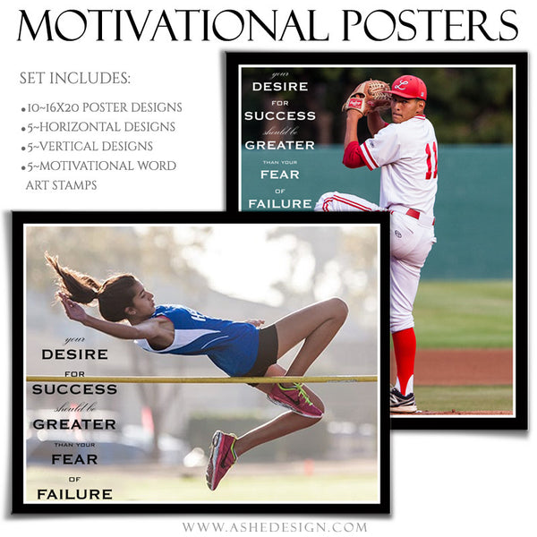 Poster Photography Templates | Motivational Set 9-Desire