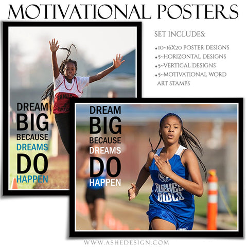 Poster Photography Templates | Motivational Set 9-Dream