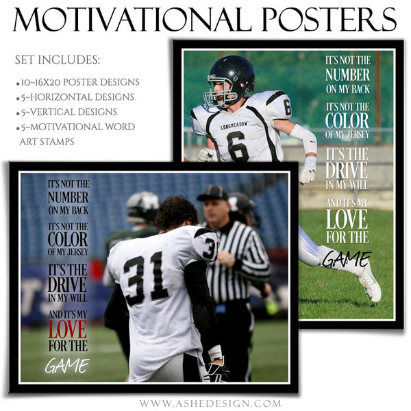 Poster Photography Templates | Motivational Set 9-Game