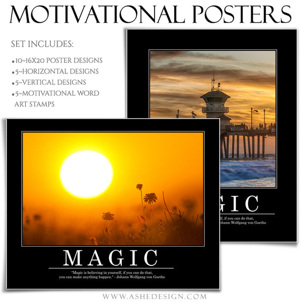 Poster Photography Templates | Motivational Set 6 magic