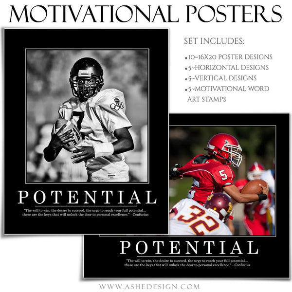 Poster Photography Templates | Motivational Set 6 potential