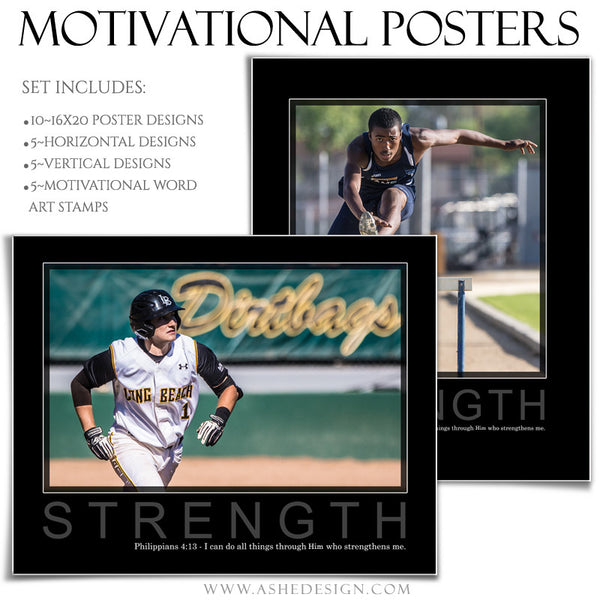 Sports Poster Templates | Motivational Set 10 STRENGTH