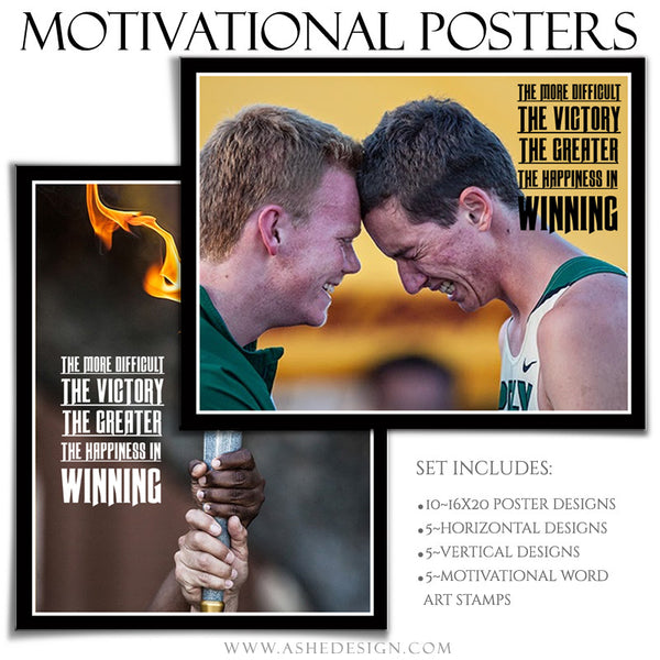 Poster Photography Templates | Motivational Set 9-Victory