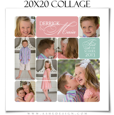 20x20 Rounded Corner Collage Template