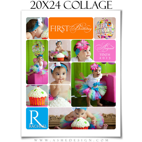20x24 Rounded Corner Collage Template